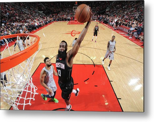 Playoffs Metal Print featuring the photograph James Harden by Bill Baptist