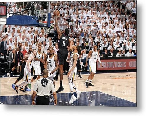 Playoffs Metal Print featuring the photograph Deandre Jordan by Andrew D. Bernstein