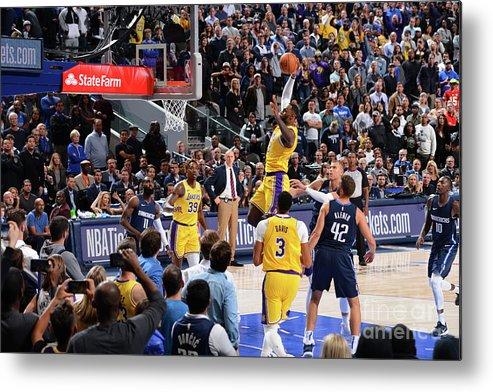 Nba Pro Basketball Metal Print featuring the photograph Lebron James by Jesse D. Garrabrant