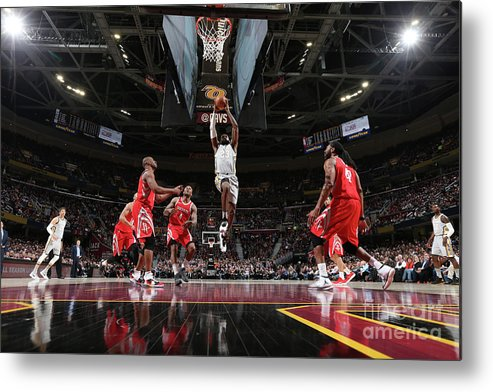 Nba Pro Basketball Metal Print featuring the photograph Lebron James by Joe Murphy