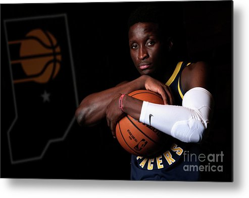Media Day Metal Print featuring the photograph Victor Oladipo by Ron Hoskins