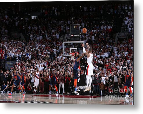Playoffs Metal Print featuring the photograph Damian Lillard by Sam Forencich