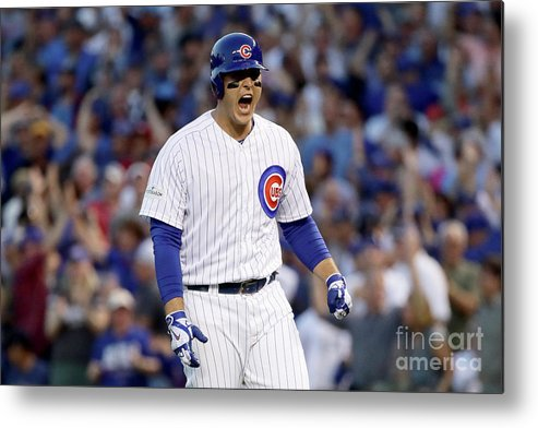 Three Quarter Length Metal Print featuring the photograph Anthony Rizzo by Jonathan Daniel