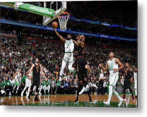 Nba Pro Basketball Metal Print featuring the photograph Jaylen Brown by Brian Babineau