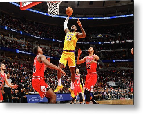 Nba Pro Basketball Metal Print featuring the photograph Lebron James by Jesse D. Garrabrant