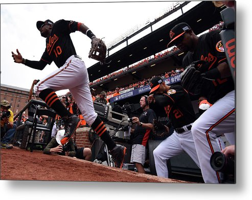 Game Two Metal Print featuring the photograph Adam Jones by Patrick Smith
