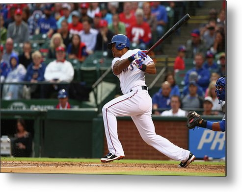 Adrian Beltre Metal Print featuring the photograph Adrian Beltre by Ronald Martinez
