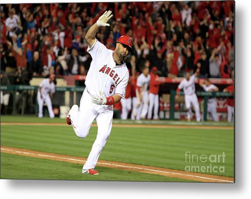Ninth Inning Metal Print featuring the photograph Albert Pujols by Sean M. Haffey