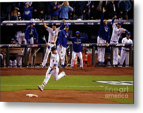 Ninth Inning Metal Print featuring the photograph Alex Gordon by Christian Petersen
