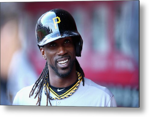 Great American Ball Park Metal Print featuring the photograph Andrew Mccutchen by Andy Lyons