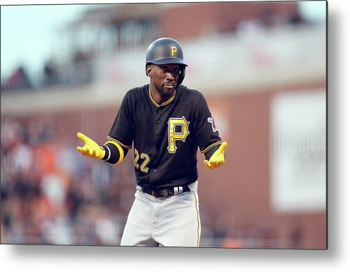 San Francisco Metal Print featuring the photograph Andrew Mccutchen by Ezra Shaw