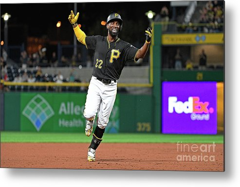 Second Inning Metal Print featuring the photograph Andrew Mccutchen by Justin Berl