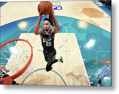 Nba Pro Basketball Metal Print featuring the photograph Ben Simmons by Andrew D. Bernstein