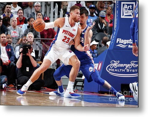 Nba Pro Basketball Metal Print featuring the photograph Blake Griffin by Brian Sevald