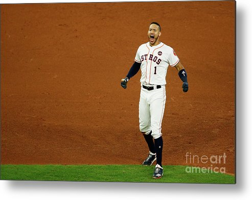Game Two Metal Print featuring the photograph Carlos Correa by Bob Levey