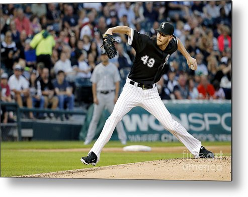 Second Inning Metal Print featuring the photograph Chris Sale by Jon Durr