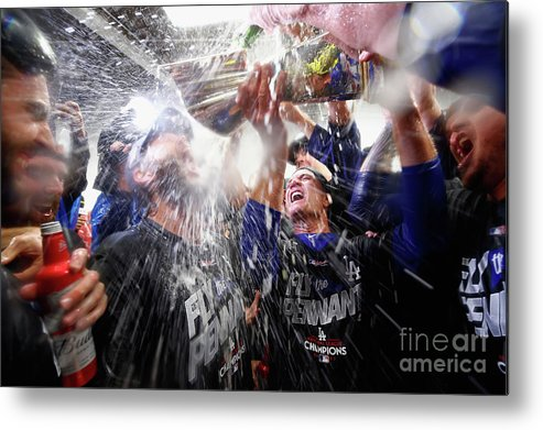 Championship Metal Print featuring the photograph Clayton Kershaw by Jamie Squire