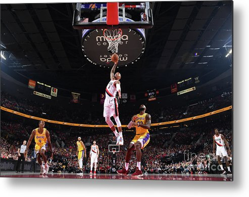Nba Pro Basketball Metal Print featuring the photograph Damian Lillard by Andrew D. Bernstein