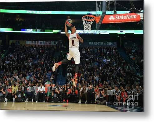 Smoothie King Center Metal Print featuring the photograph Damian Lillard by Jesse D. Garrabrant