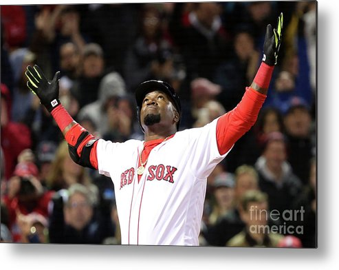 People Metal Print featuring the photograph David Ortiz by Adam Glanzman