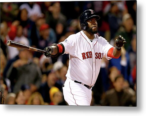 Second Inning Metal Print featuring the photograph David Ortiz by Elsa