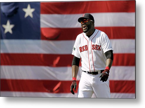 American League Baseball Metal Print featuring the photograph David Ortiz by Winslow Townson