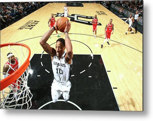 Nba Pro Basketball Metal Print featuring the photograph Demar Derozan by Nathaniel S. Butler