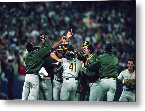 Candlestick Park Metal Print featuring the photograph Dennis Eckersley by Mlb Photos