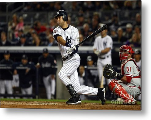 Game Two Metal Print featuring the photograph Derek Jeter by Chris Mcgrath