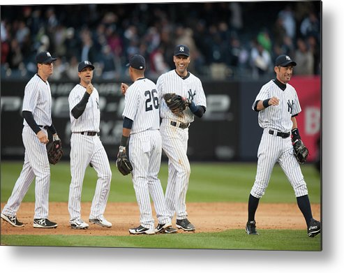 East Metal Print featuring the photograph Derek Jeter by Rob Tringali