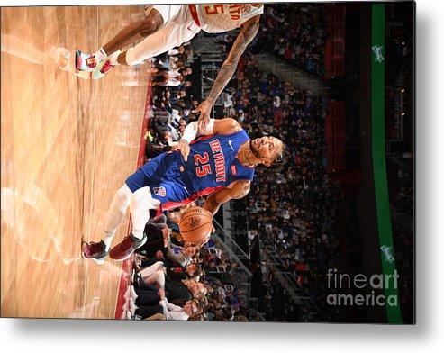 Nba Pro Basketball Metal Print featuring the photograph Derrick Rose by Chris Schwegler