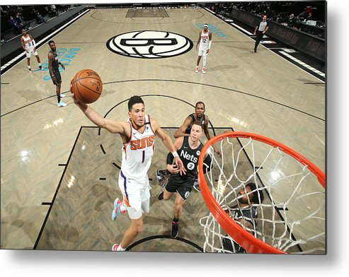 Nba Pro Basketball Metal Print featuring the photograph Devin Booker by Nathaniel S. Butler