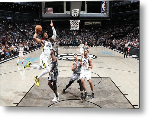 Nba Pro Basketball Metal Print featuring the photograph Donovan Mitchell by Nathaniel S. Butler