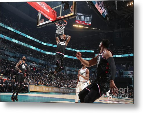Nba Pro Basketball Metal Print featuring the photograph Dwyane Wade and Lebron James by Nathaniel S. Butler