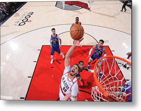 Nba Pro Basketball Metal Print featuring the photograph Enes Kanter by Sam Forencich