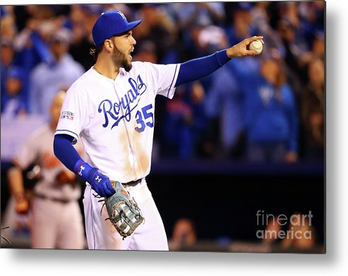 People Metal Print featuring the photograph Eric Hosmer by Dilip Vishwanat