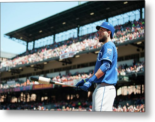 American League Baseball Metal Print featuring the photograph Eric Hosmer by Rob Tringali