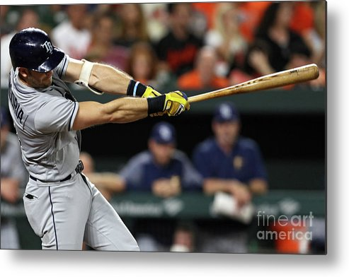 Three Quarter Length Metal Print featuring the photograph Evan Longoria by Patrick Smith