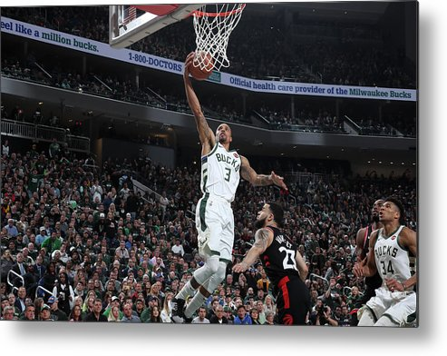 Game Two Metal Print featuring the photograph George Hill by Nathaniel S. Butler