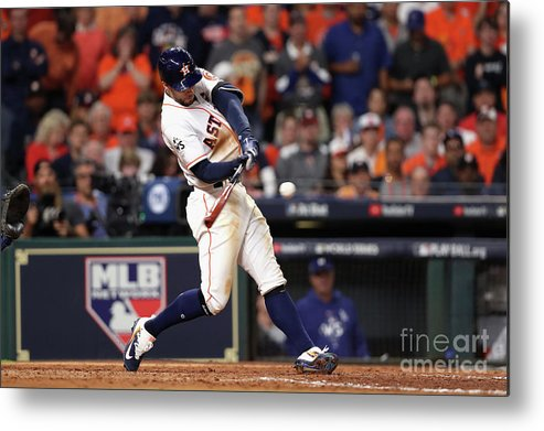 People Metal Print featuring the photograph George Springer by Christian Petersen