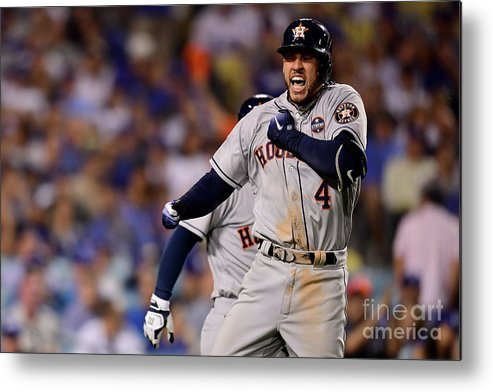 Game Two Metal Print featuring the photograph George Springer by Harry How