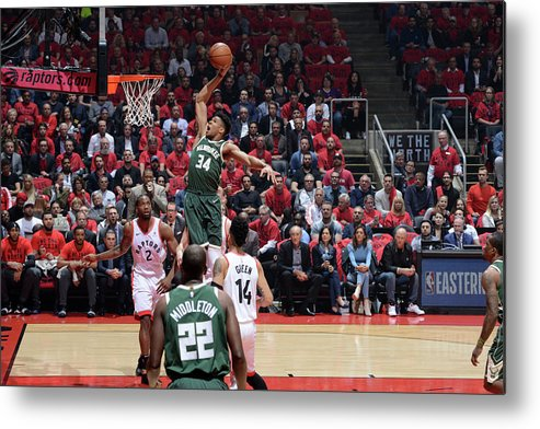 Playoffs Metal Print featuring the photograph Giannis Antetokounmpo by Jesse D. Garrabrant