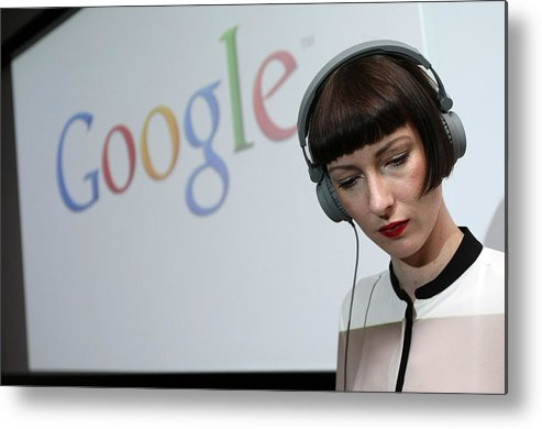 Corporate Business Metal Print featuring the photograph Google Opens New Berlin Office by Adam Berry