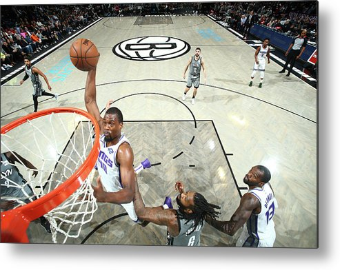 Nba Pro Basketball Metal Print featuring the photograph Harrison Barnes by Nathaniel S. Butler
