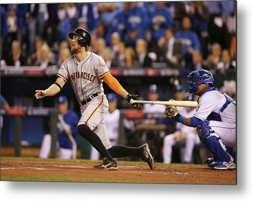 Playoffs Metal Print featuring the photograph Hunter Pence by Brad Mangin
