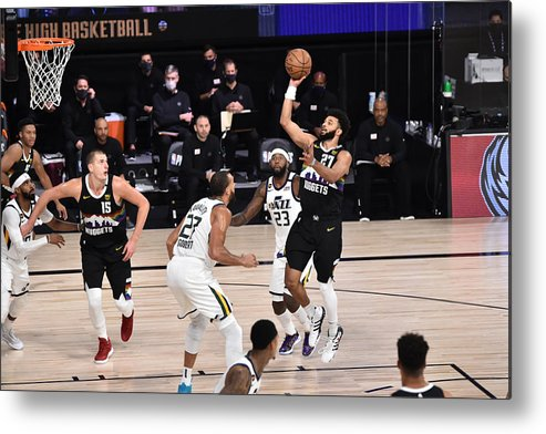 Playoffs Metal Print featuring the photograph Jamal Murray by David Dow