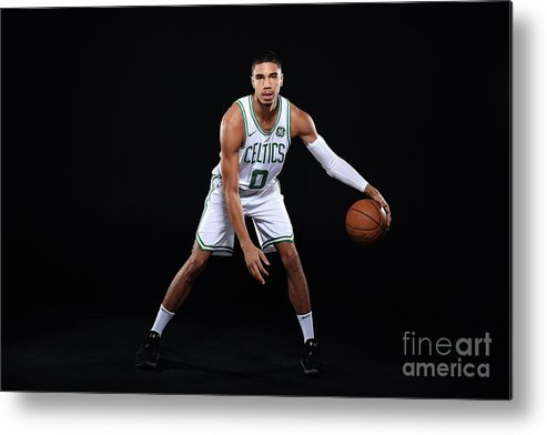 Media Day Metal Print featuring the photograph Jayson Tatum by Brian Babineau