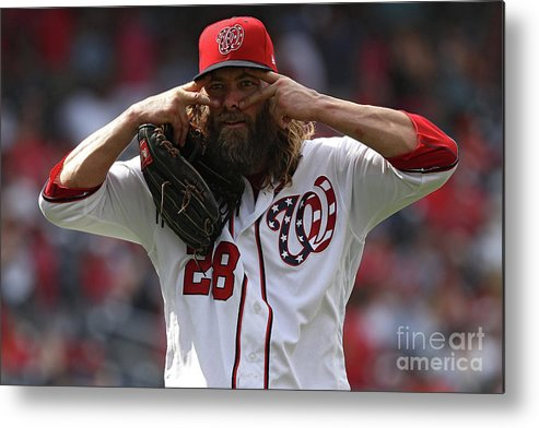 People Metal Print featuring the photograph Jayson Werth by Patrick Smith