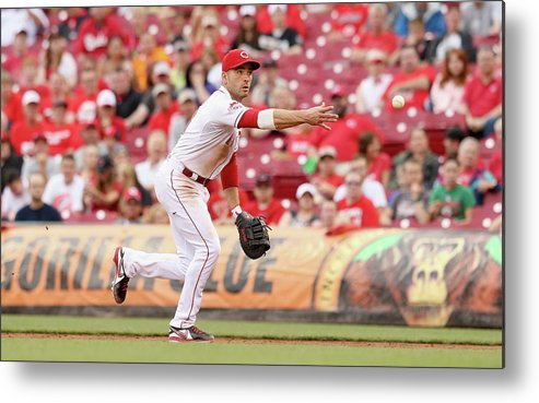 Great American Ball Park Metal Print featuring the photograph Joey Votto by Andy Lyons