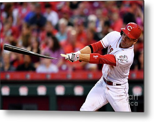 Great American Ball Park Metal Print featuring the photograph Joey Votto by Jamie Sabau
